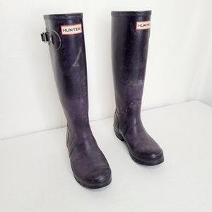Hunter Knee-High Rubber Boots
